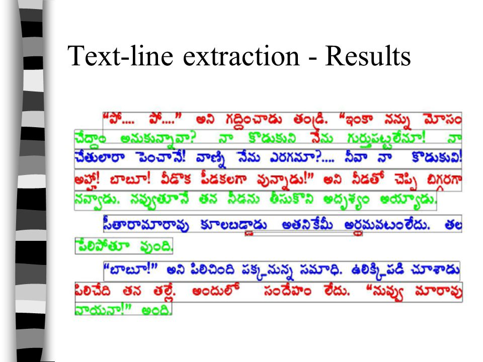 Text-line extraction - Results