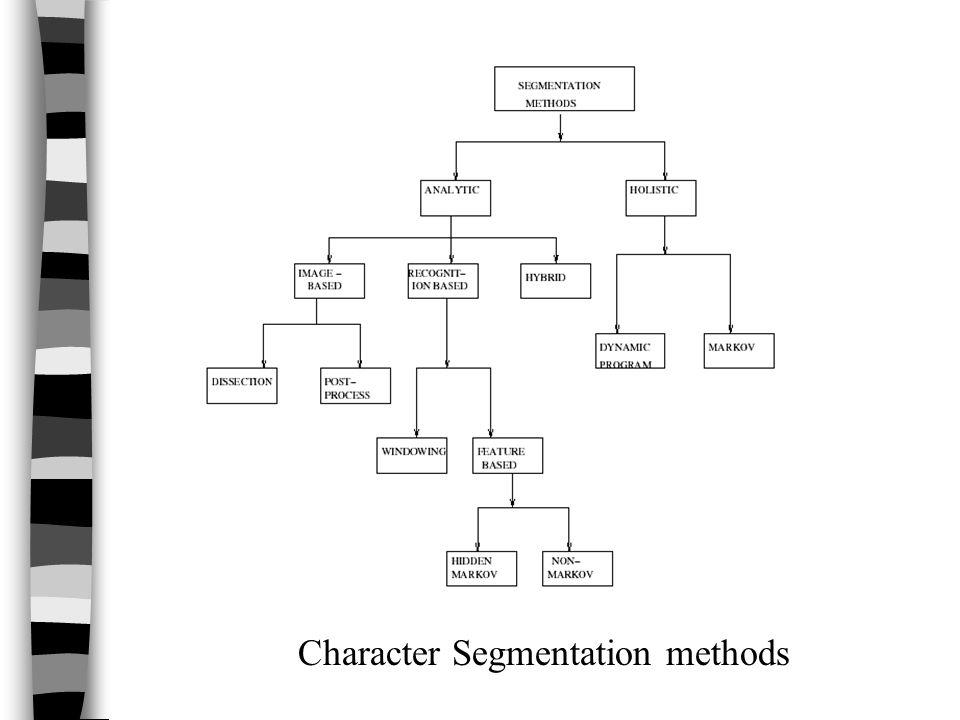 Character Segmentation methods