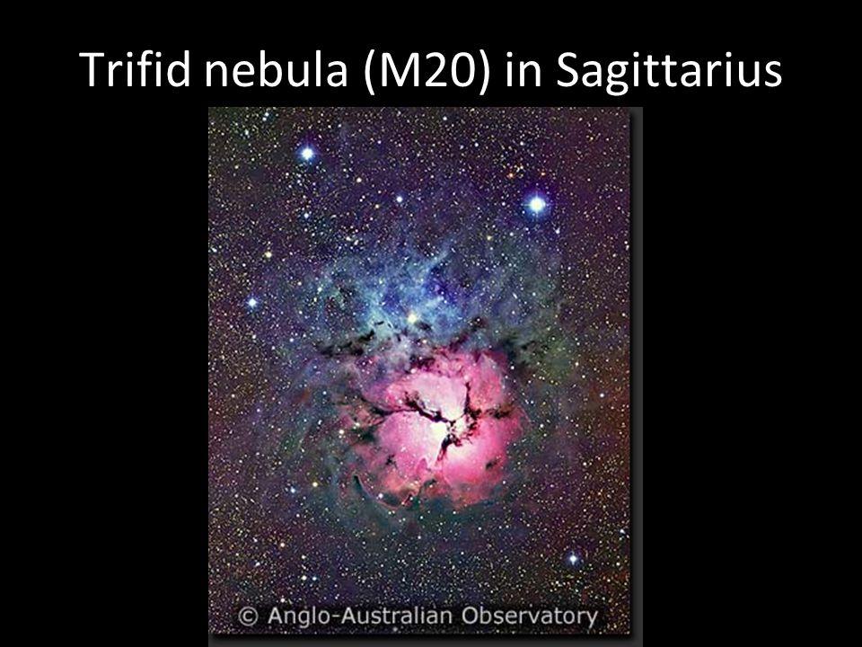 Trifid nebula (M20) in Sagittarius