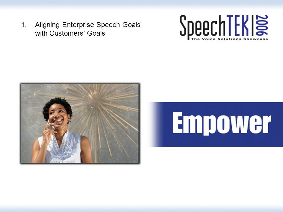 3 1.Aligning Enterprise Speech Goals with Customers' Goals