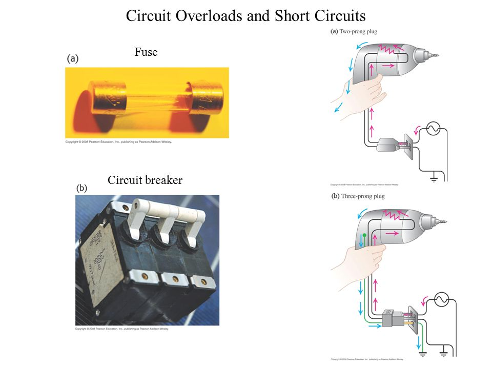 Circuit Overloads and Short Circuits Circuit breaker Fuse