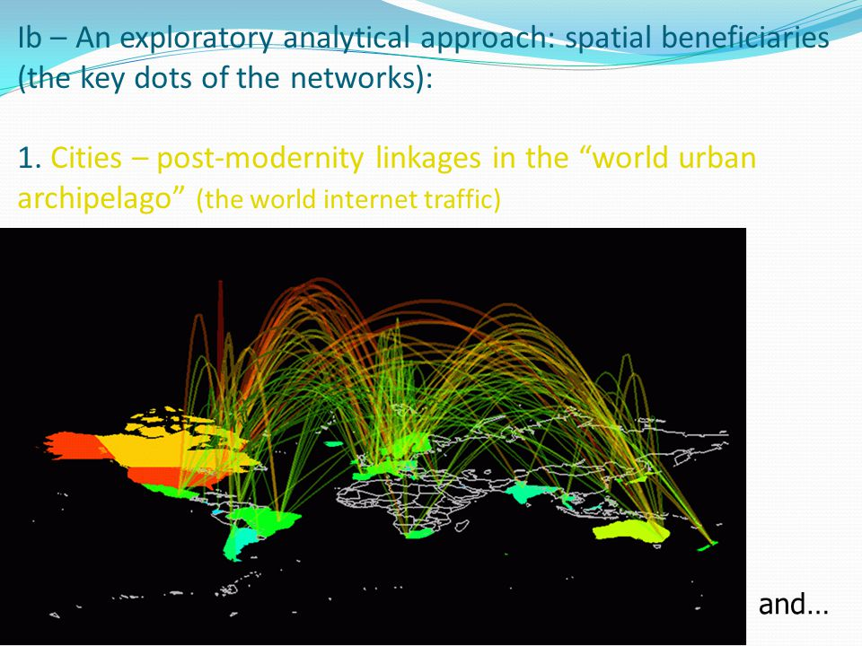 Ib – An exploratory analytical approach: spatial beneficiaries (the key dots of the networks): … 2.