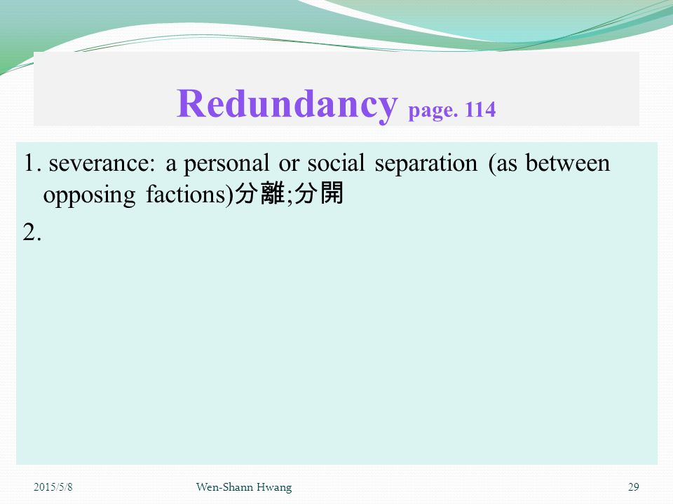 Redundancy page. 114 1.