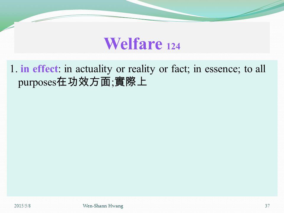Welfare 124 1.