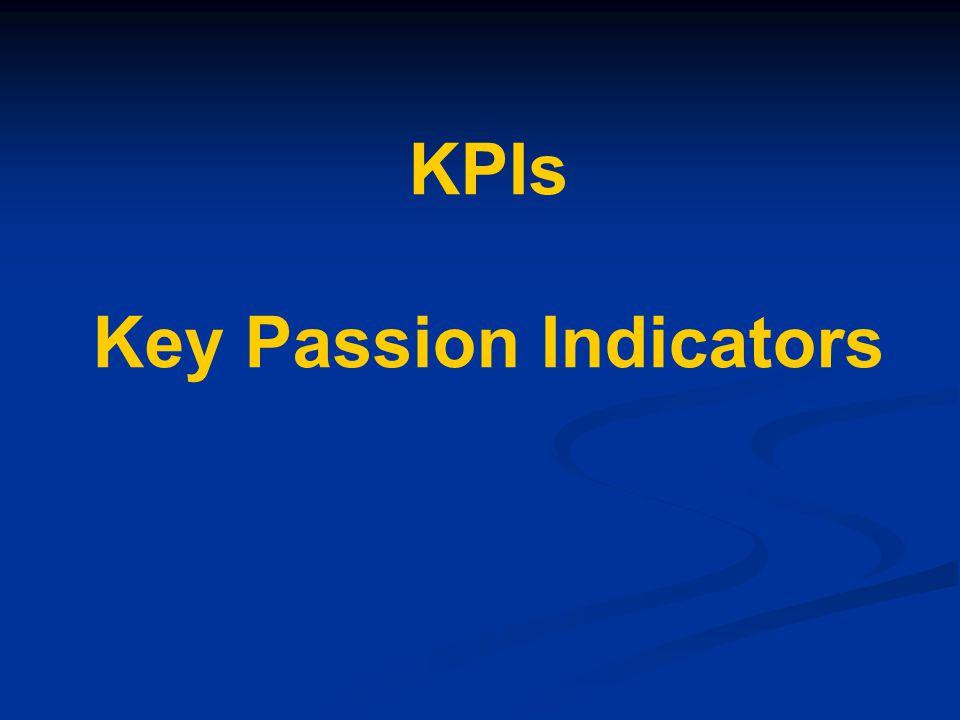 KPIs Key Passion Indicators
