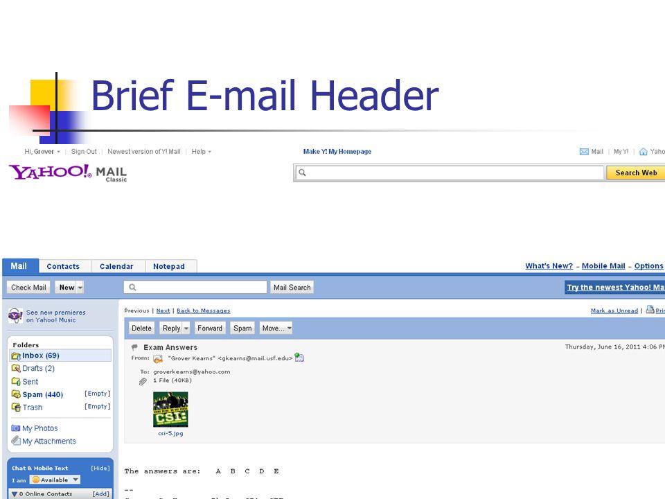 Brief E-mail Header 30