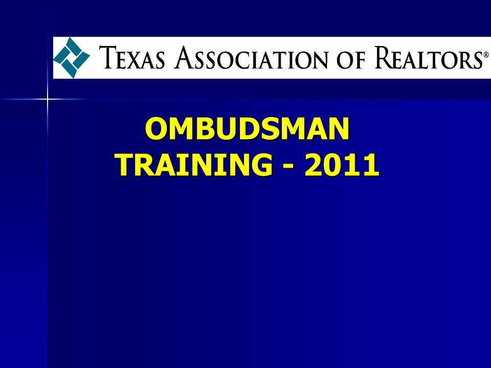 OMBUDSMAN TRAINING - 2011