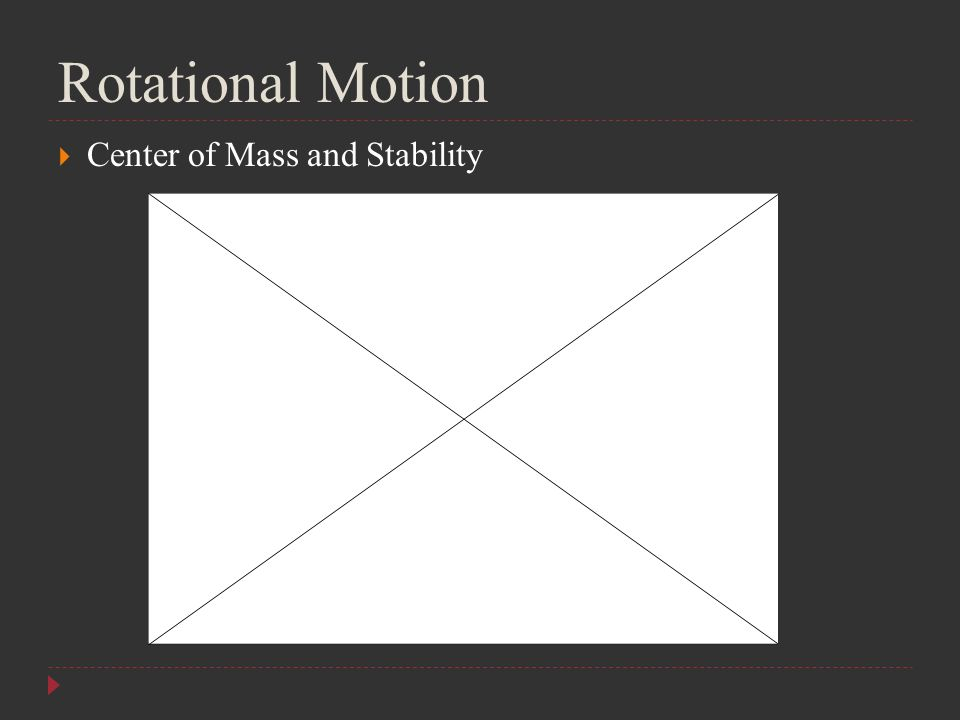 Rotational Motion  Center of Mass and Stability