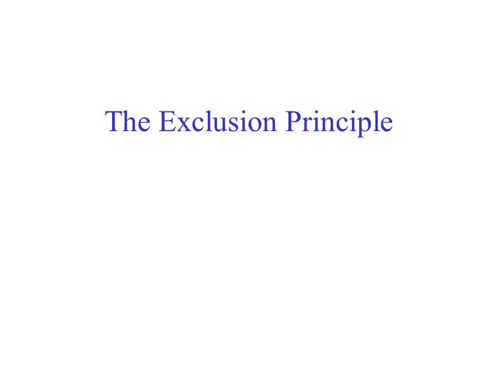 The Exclusion Principle