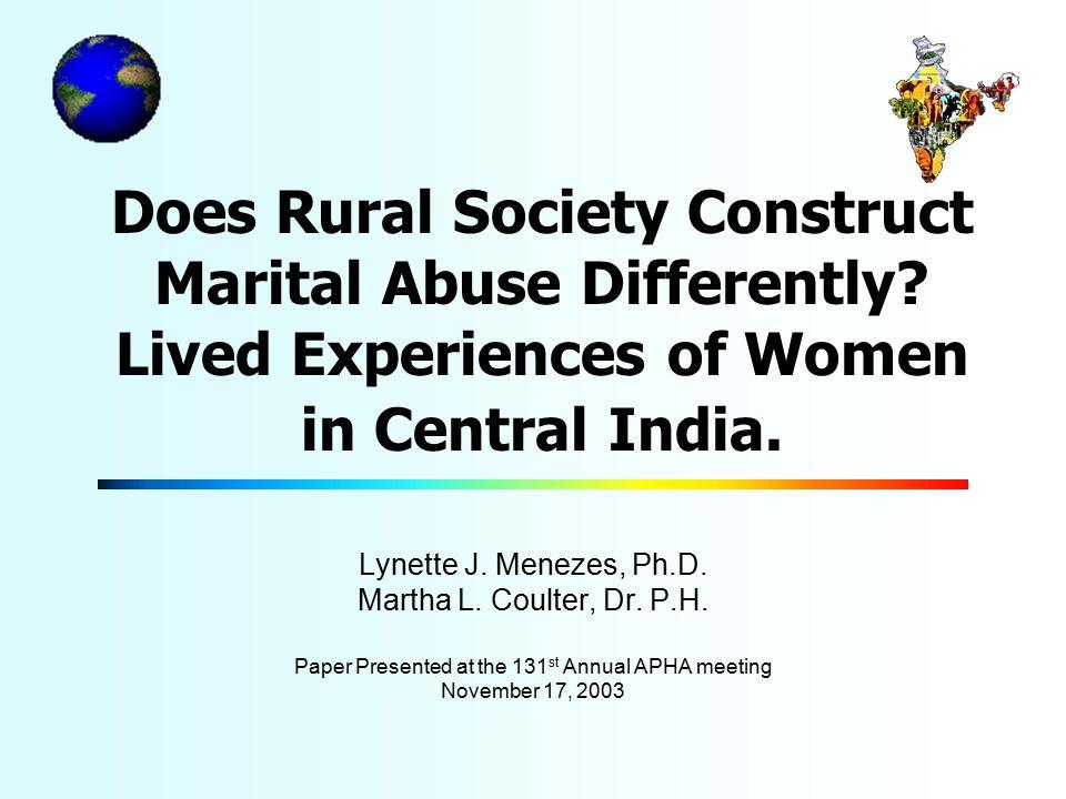 How do Rural Women Describe Abuse.