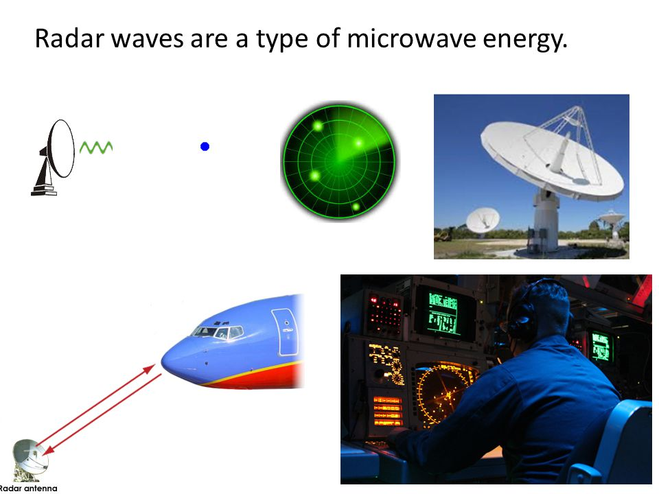 Radar waves are a type of microwave energy.