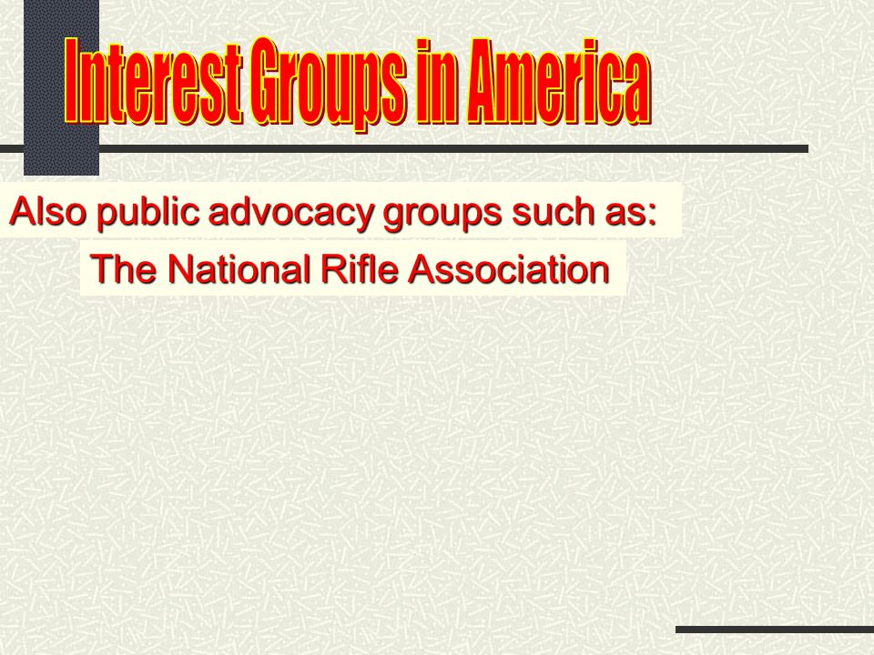 Also public advocacy groups such as: The Sierra Club Center for Auto Safety and Public Citizen led by Ralph Nader