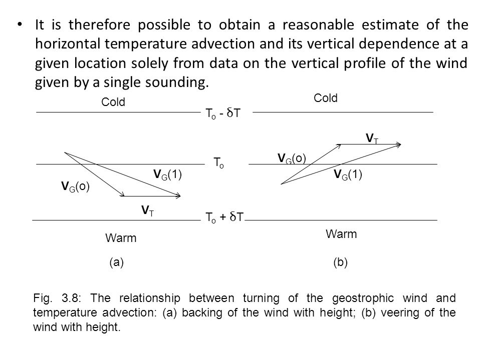 It is therefore possible to obtain a reasonable estimate of the horizontal temperature advection and its vertical dependence at a given location solel