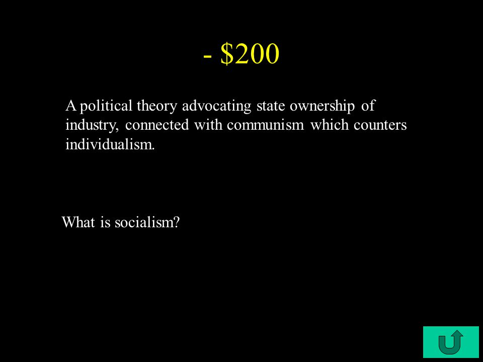 C4-$100 - $100 Integrated set of beliefs that shape our point of view What is an ideology