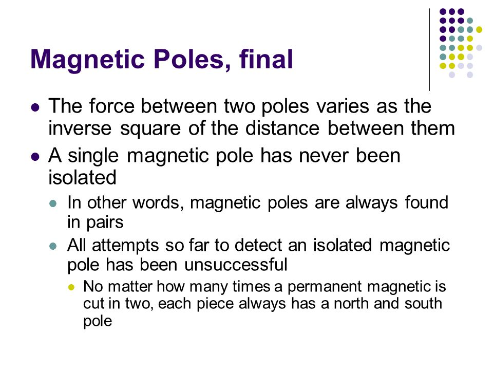 Magnetic Fields Reminder: an electric field surrounds any electric charge The region of space surrounding any moving electric charge also contains a magnetic field A magnetic field also surrounds a magnetic substance making up a permanent magnet
