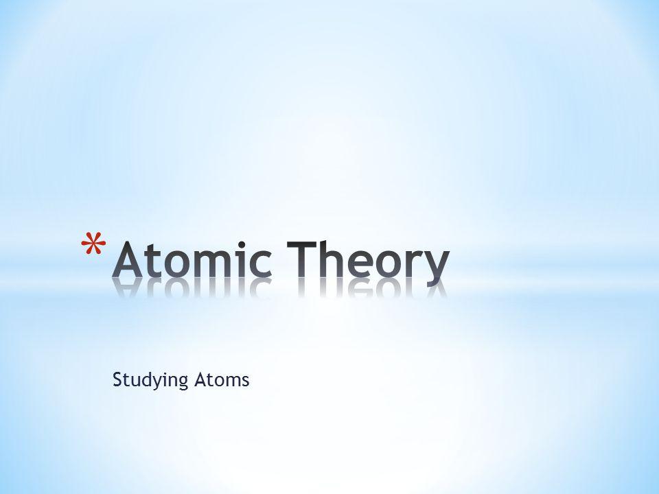 Studying Atoms