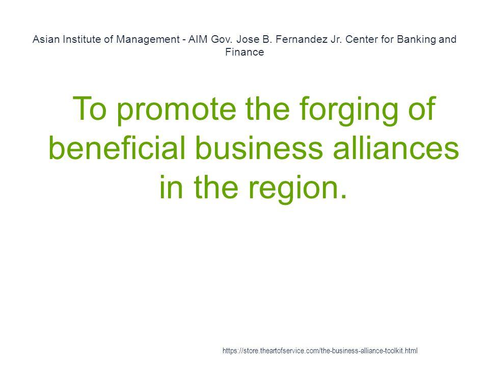 Asian Institute of Management - AIM Gov. Jose B. Fernandez Jr.