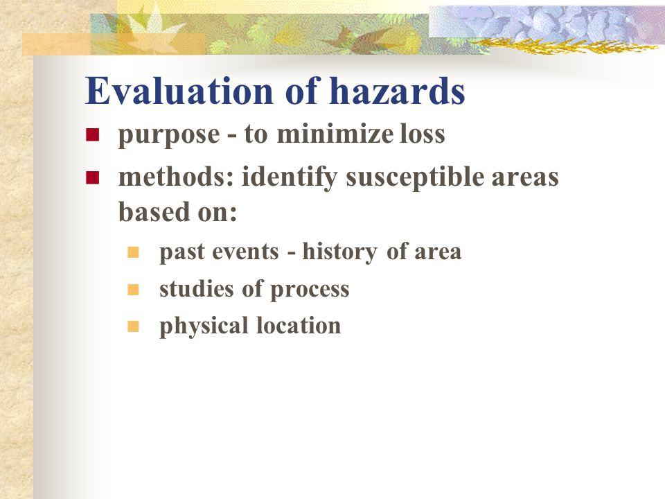 Estimation of seismic hazard Max. magnitude/intensity effect at surface estimated fault location