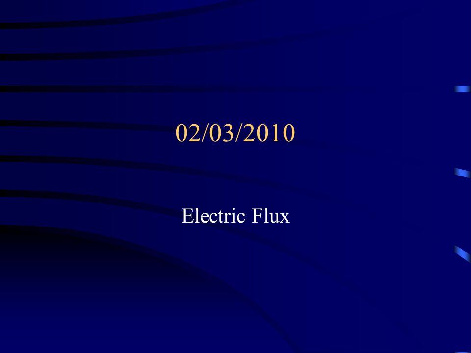 02/03/2010 Electric Flux