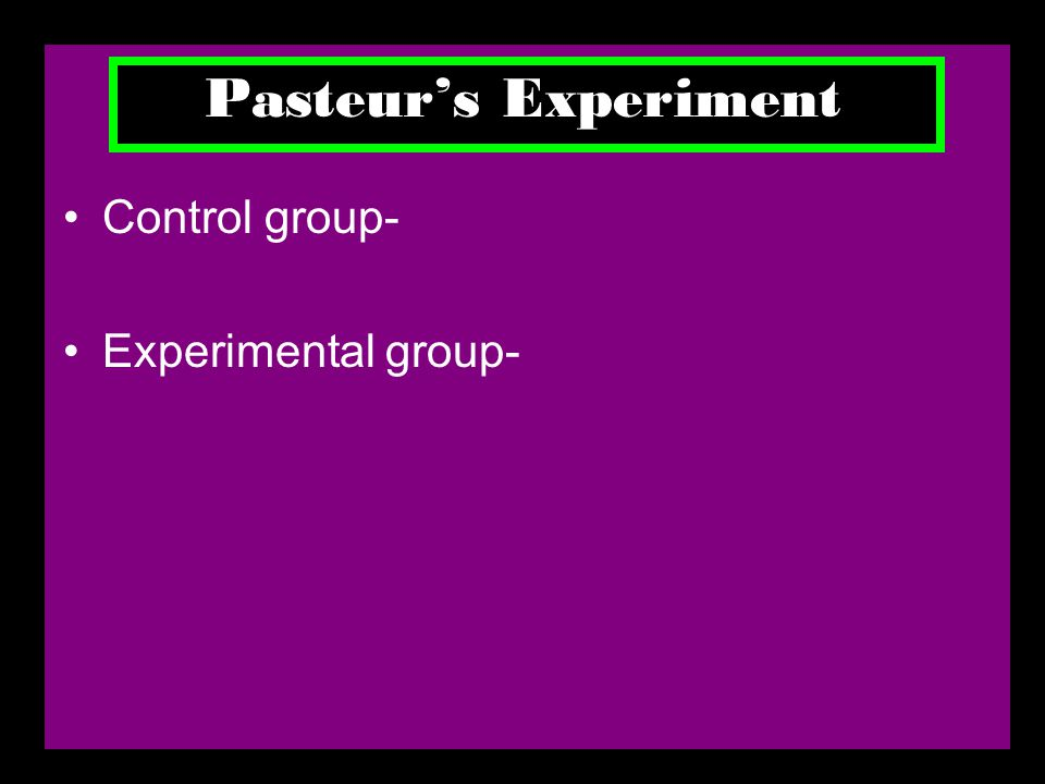 Control group- Experimental group-