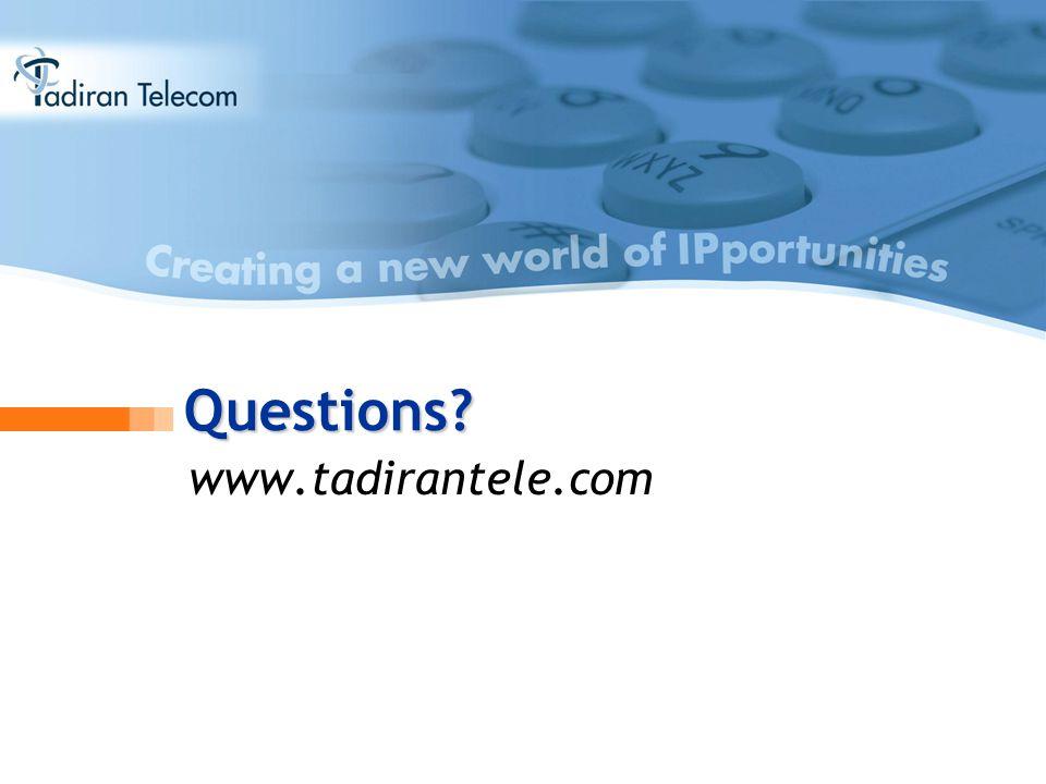 Questions www.tadirantele.com
