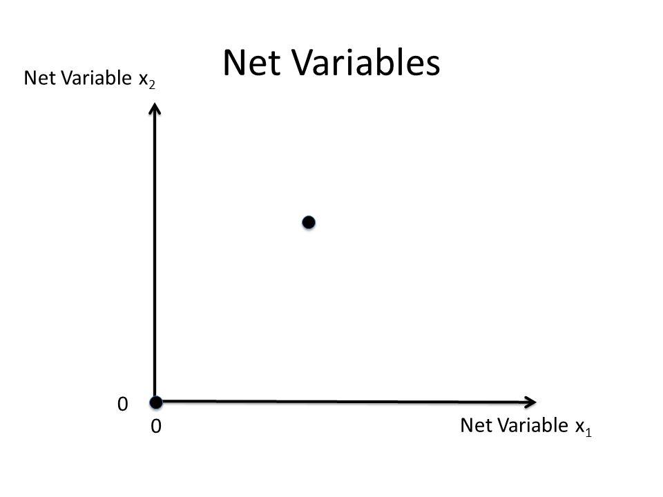 Net Variable x 1 Net Variable x 2 0 0 Net Variables