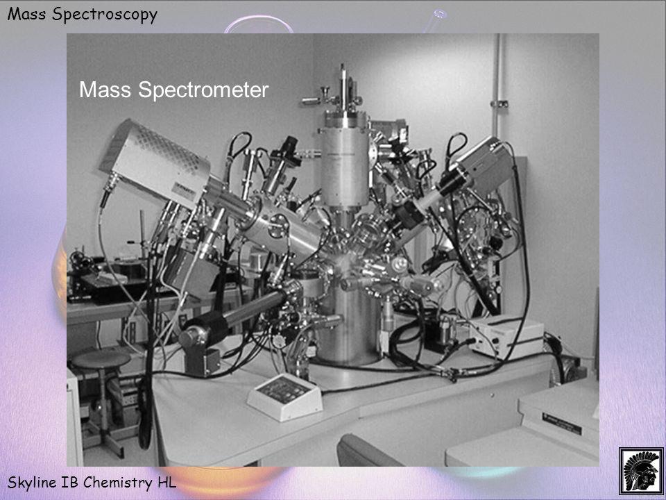 Mass Spectroscopy Skyline IB Chemistry HL Mass Spectrometer
