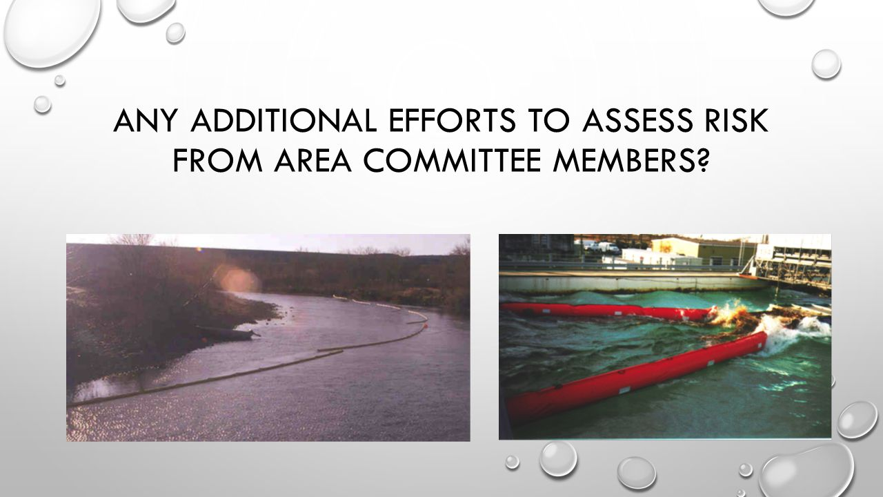 ANY ADDITIONAL EFFORTS TO ASSESS RISK FROM AREA COMMITTEE MEMBERS?