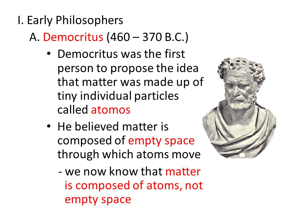 I.Early Philosophers A.