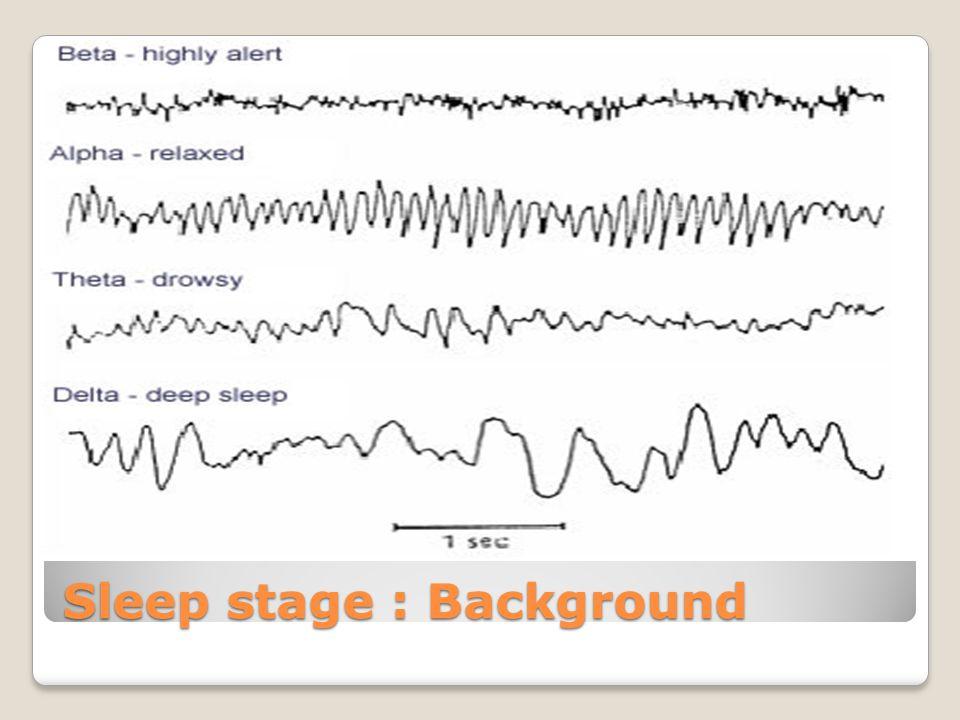 Sleep stage : Background