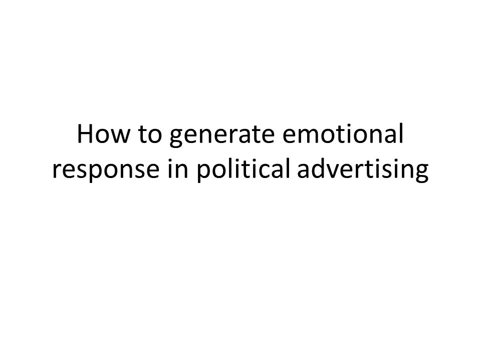 Why emotional response.According to George E.