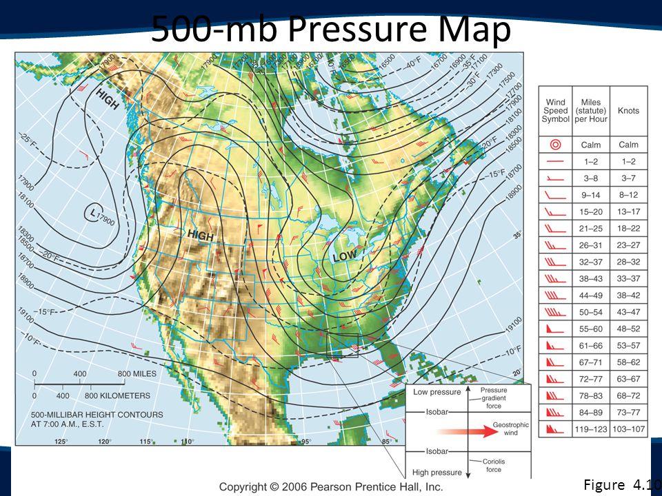 500-mb Pressure Map Figure 4.10