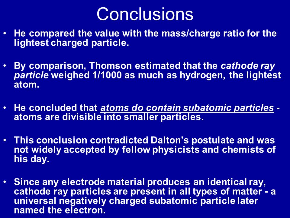 Cathode Ray Experiment Deflection region Drift region Displacement + - Anodes / collimators Cathode Volts