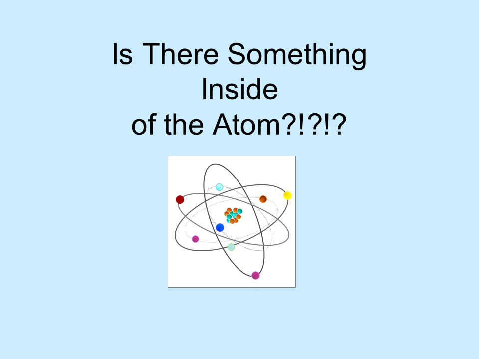 Is There Something Inside of the Atom?!?!?