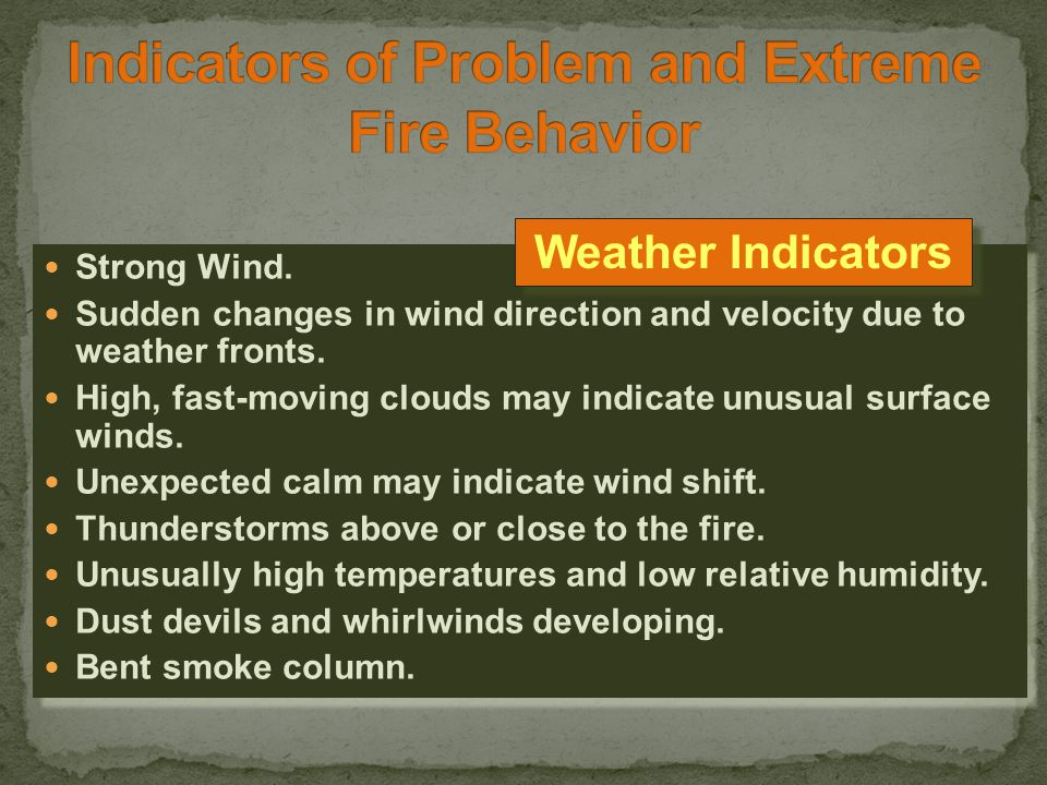 01-27-S190-EP Sudden acceleration of fire spread or intensity, but of relatively short duration.