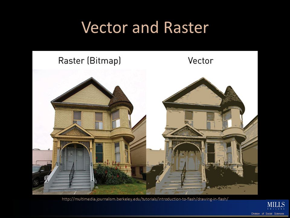 Vector and Raster http://multimedia.journalism.berkeley.edu/tutorials/introduction-to-flash/drawing-in-flash/