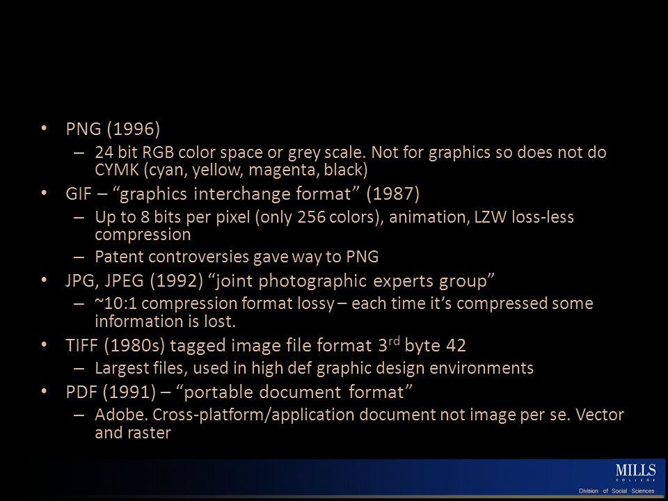 Comparing Formats http://andreas.com/faq-gif-png.html