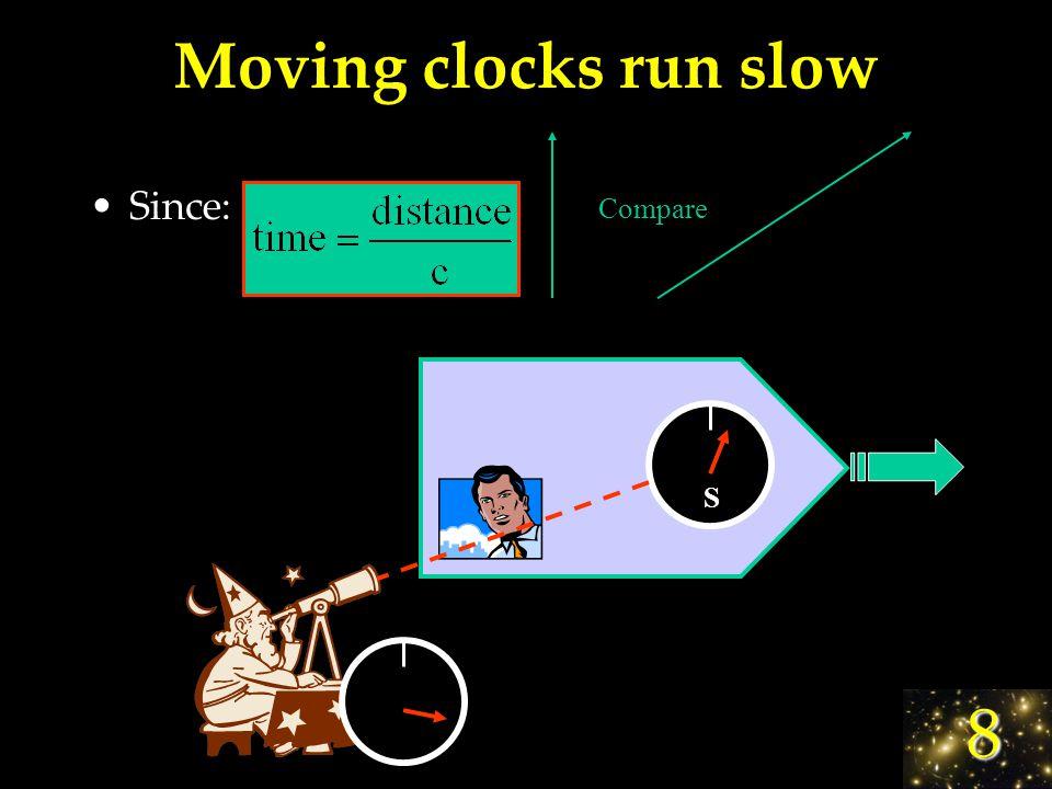 8 Time Dilation Tick! Tock! Tick! Tock! Compare