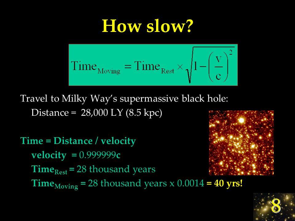 8 How slow.