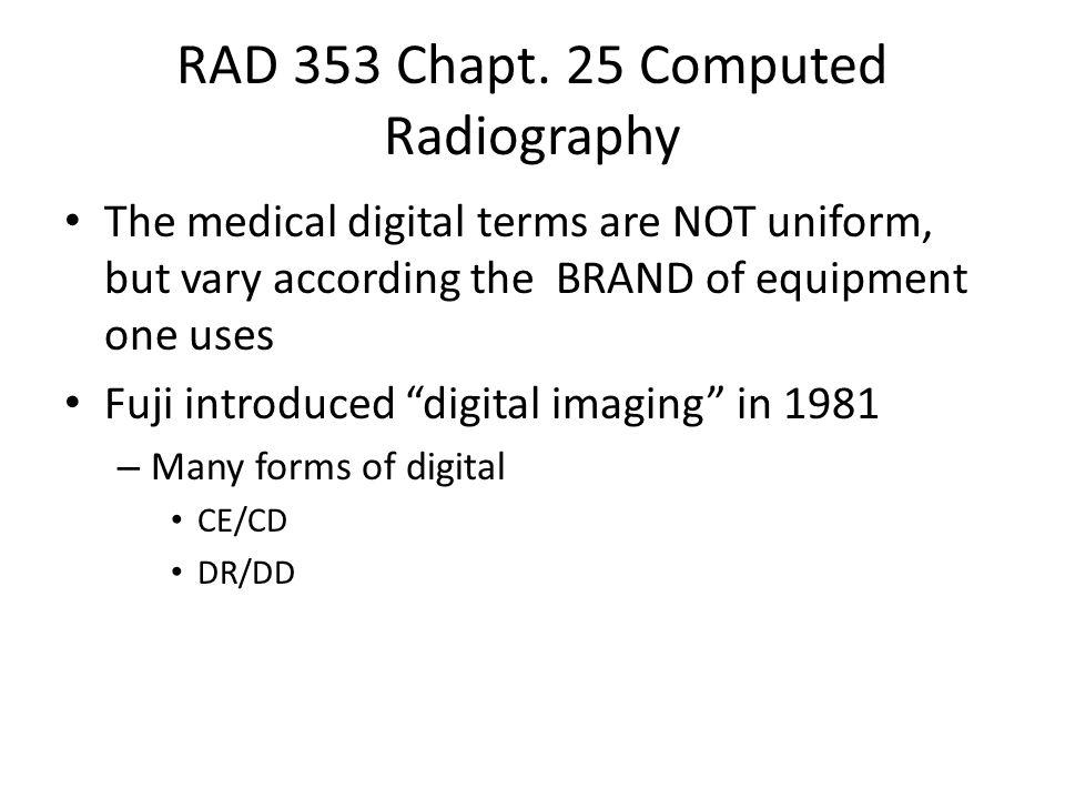 RAD 353 Chapt.