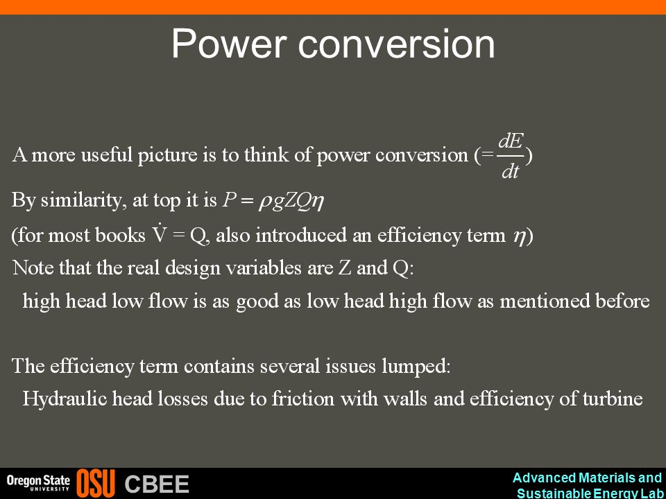 Advanced Materials and Sustainable Energy Lab CBEE Power conversion