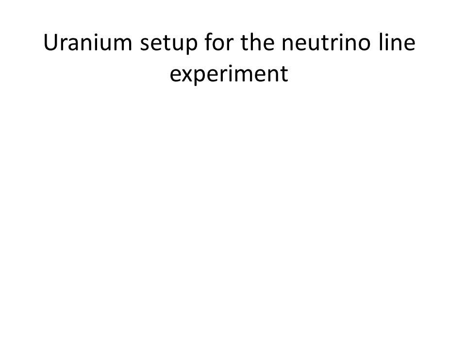 Uranium setup for the neutrino line experiment