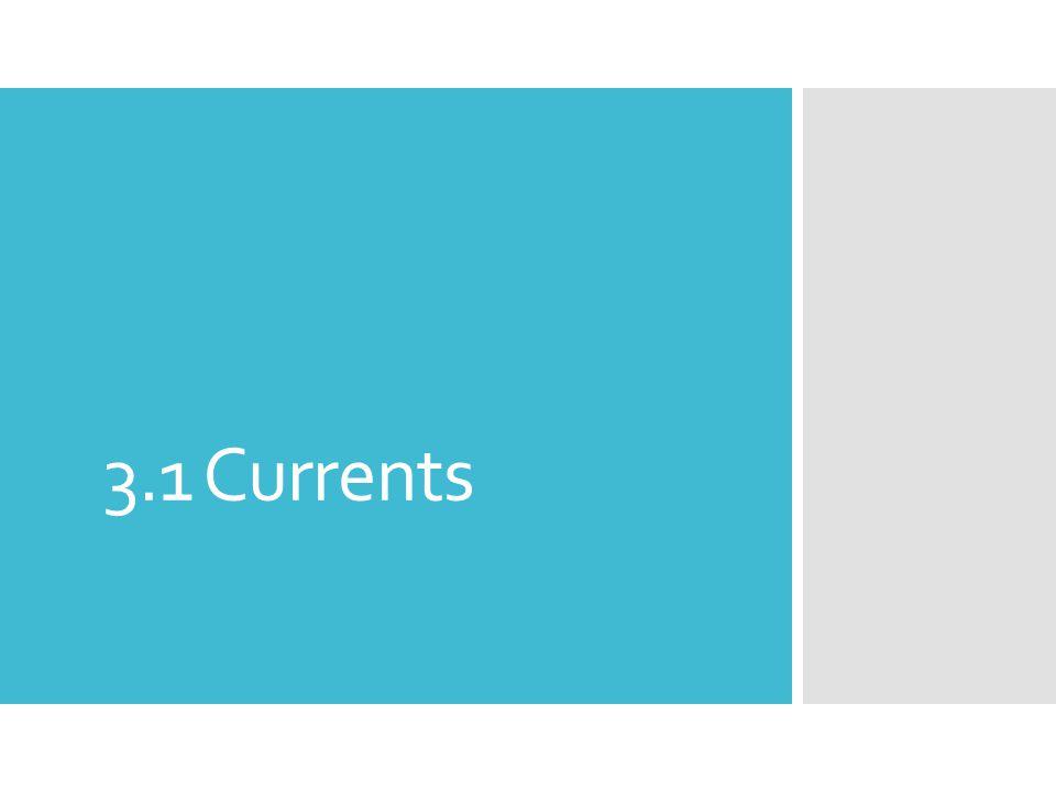 3.1 Currents