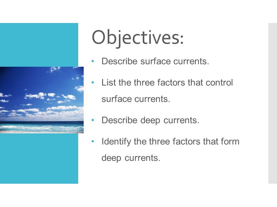 How Deep Currents Form