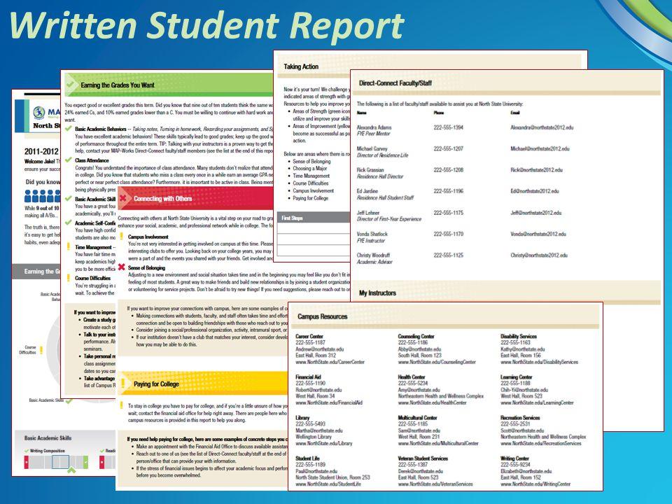 Written Student Report