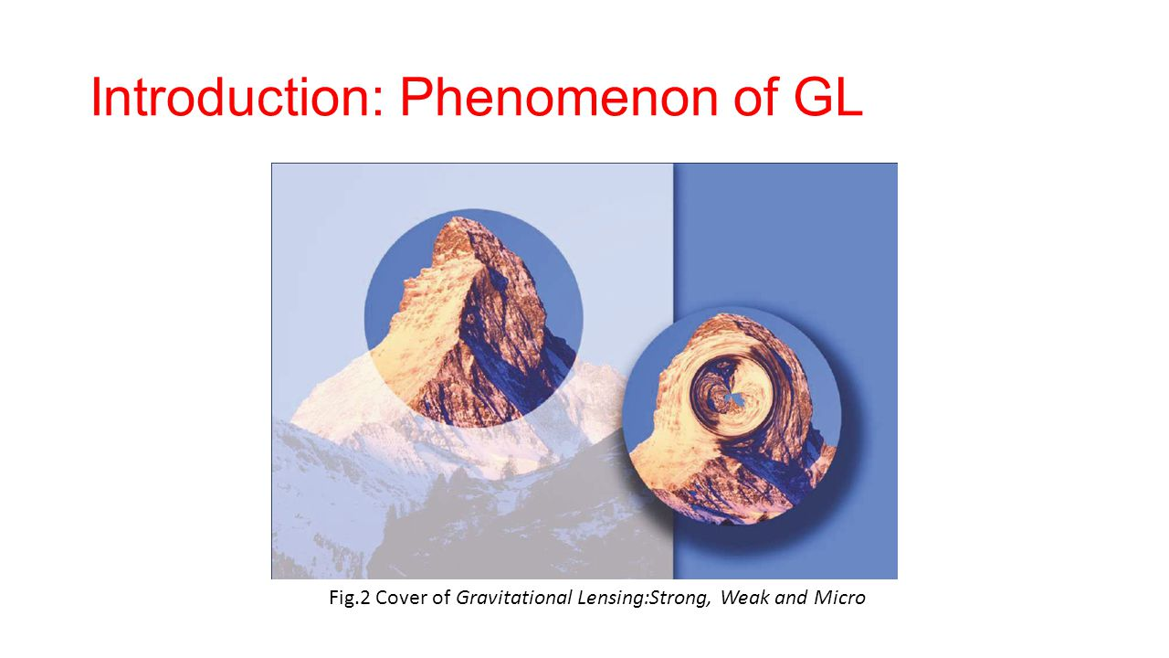 Introduction: Phenomenon of GL Fig.2 Cover of Gravitational Lensing:Strong, Weak and Micro