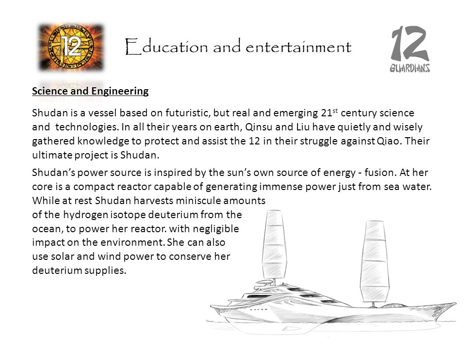 Science and Engineering Shudan is a vessel based on futuristic, but real and emerging 21 st century science and technologies.
