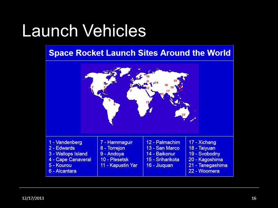 12/17/201316 Launch Vehicles