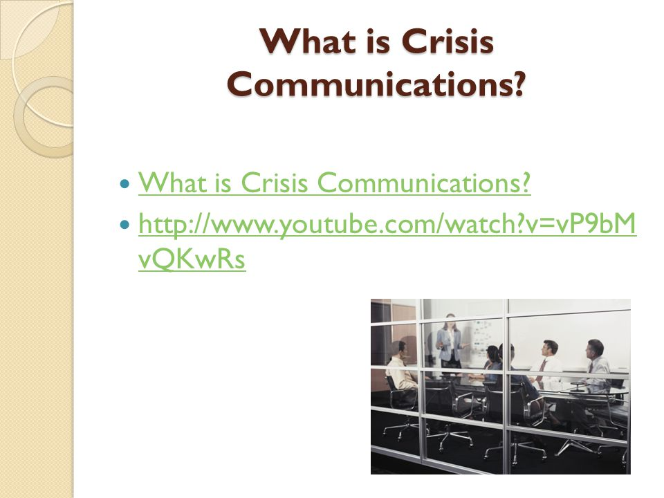 What is Crisis Communications.