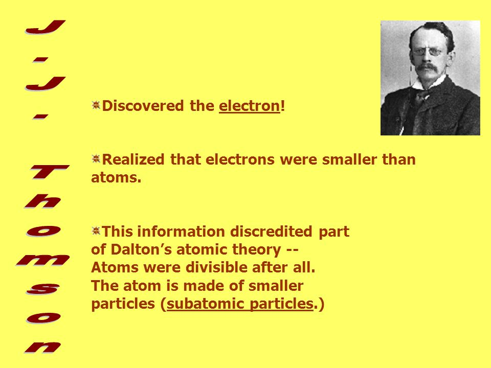 """Cathode ray tube- running electricity through a gaseous element *beam of light"""" in a was really made of negative particles!"""